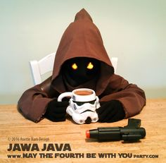 Jawa Java with Creamer Star Wars Themed Food, Star Wars Party Food, Star Wars Food, Stormtrooper Blaster, Alien Races, Star Wars Birthday, Food Themes, Java, Food Art