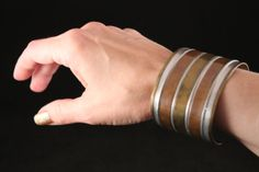 SALE HUGE WIDE Vintage Striped Brass Copper Cuff Bracelet - Striped Silver (Vintage, Ethnic, Tribal, Unique) Free Shipping, Free Gift Box ✿ SPECIAL SALE – Use Coupon Code: GIVETHANKS to save 20% off your entire order! Sale ends Monday 12/2 at Midnight! ✿