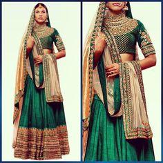 Green Peeli Kothi lehenga #Sabyasachi #Bridal