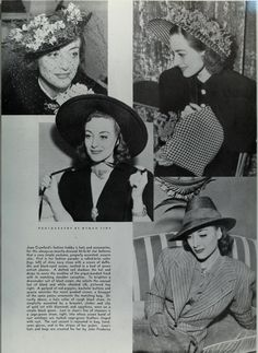 Joan Crawford with hats