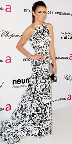 Nina Dobrev in Naeem Khan - Elton John AIDS Foundation Oscar Party - Look of the Day: February 26, 2013 : InStyle.com