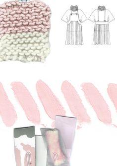 Fashion Sketchbook - fashion drawings, print research & knit sample; fashion portfolio // Giryung Kim