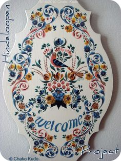 "Hindeloopen  Welcome Board Original  ""Chako Style "" Hindeloopen"
