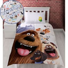 The Secret Life of Pets Animals Single/US Twin Duvet Cover Set //Price: $21.76 & FREE Shipping //     #bedding