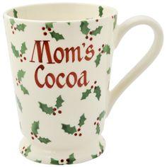 Personalised Little Holly Cocoa Mug 2016