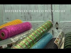 Differences in Deco Poly Mesh Products - See the written tutorial on the Trendy Tree Blog: http://www.trendytree.com/blog/differences-poly-mesh-products/