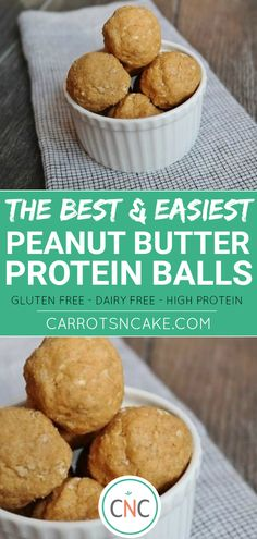 The best (and easiest) snack recipe you will ever need! This gluten-free, dairy-free and high protein peanut butter ball recipe is perfect for on the go snacking, breakfast or a healthy dessert. Meeting your daily macros has never tasted so good! High Protein Peanut Butter, Peanut Butter Balls, High Protein Recipes, Protein Snacks, Protein Muffins, Protein Cookies, Healthy Snacks, Healthy Protein, Healthy Zucchini