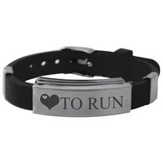 Love To Run Silicone Bracelet  that Fun, adjustable running silicone bracelet that looks great while running or relaxing.