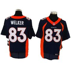 fbae529dc Size 60 4XL Denver Broncos #83 Wes Welker 2013 New Collar Blue Stitched  Nike Elite