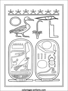 este cole mola: Dibujos para colorear de Egipto Egyptian Crafts, Egyptian Party, Egyptian Symbols, Ancient Egypt For Kids, Ancient Art, Ancient History, Colouring Pages, Coloring Books, Art Through The Ages
