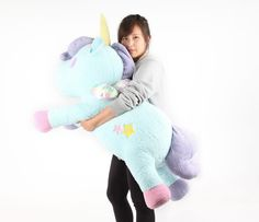 Little Twin Star Giant Unicorn Blue 36inch Plush Toy