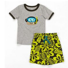 Carter's Hibiscus Woven Knit Set...now on sale at http://ilovebabyclothes.com/?page_id=198