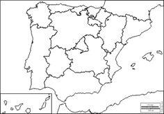 España: Mapas gratuitos, mapas mudos gratuitos, mapas en blanco gratuitos, plantillas de mapas gratuitos Art Rubric, Rubrics, Spanish Class, Teaching Spanish, Map Of Spain, Math Textbook, Geography Map, English Activities, Classroom Rules