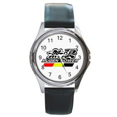 Leatherband Mugen Power performance Logo Watch by hwandikaiko