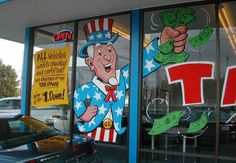 Volvo Car Dealer, Portland, Or. Huge Uncle Sam