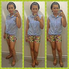 Top-h&m,short-h&m,shoes-yosi samra
