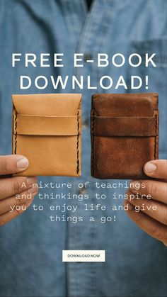 Download our free E-book. The Essential E-book of Teachings & Thinkings. Designed to inspire you to enjoy life and give things a go! #ebook #freedownload #DIY #creative #georgeandwilly Crafts For Boys, Diy And Crafts, Diy Wallet, Construction Jobs, Kitchen Room Design, Jewellery Making, Leather Working, Arduino, Coffee Shop