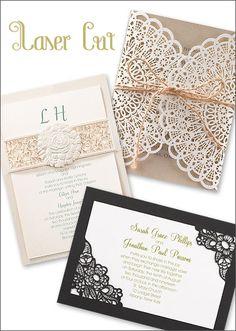 Laser Cut Wedding Invitations | wedding invitation etiquette from Invitations by Dawn
