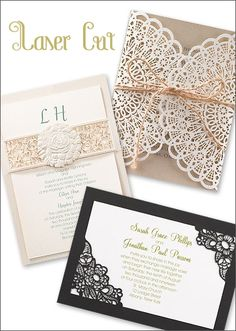 Laser Cut Wedding Invitations | wedding invitation etiquette from Invitations by Dawn