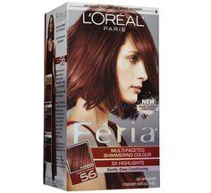 L'Oreal Feria Hair Color in Auburn Brown