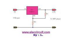 Circuito Eliminador de pilha e bateria 1.5 Volts usando LM317