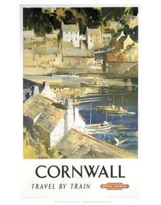 Railway Poster - Cornwall Art Print