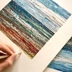 Torn Paper, Fine Paper, Collage Artwork, Collage Artists, Shape And Form, Algarve, A3, Art Inspo, Portugal