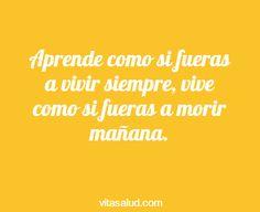 Sabias palabras las de hoy en nuestra #frasedeldía ¡Feliz jueves! Más frases motivacionales en http://www.vitasalud.com/frase-del-dia/