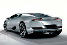 Silver Lamborghini Estoque