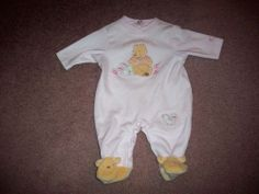 Walt Disney Winnie the Pooh Baby Infant Onsie Outfit Pajamas Size Preemie