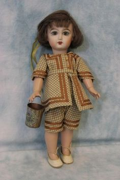 """10.5"""" Bleuette Doll by Jim Howard Bisque Head Seeley body Beautifully Dressed (12/13/2015)"""