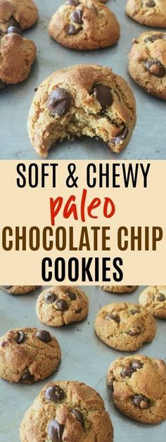 paleo chocolate chip cookies are THE BEST I've ever had! I love that they're gluten-free, grain-free, dairy-free, and refined sugar free. They're made with almond flour and sweetened with honey! Eliminate honey for keto friendly recipe. Chocolate Paleo, Dairy Free Chocolate Chips, Gluten Free Chocolate Chip Cookies, Chocolate Smoothies, Chocolate Shakeology, Chocolate Chocolate, Chocolate Recipes, Paleo Snack, Paleo Sweets