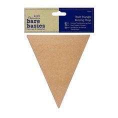 12x Kraftpapier Wimpel Triangel 12x15cm von Herz-Buffet auf DaWanda.com