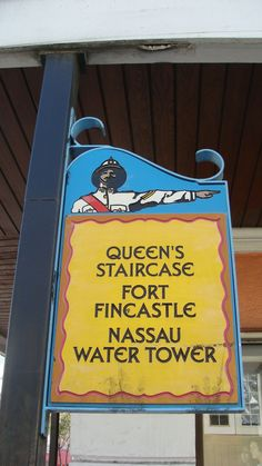 Tourist destination sign, Nassau, Bahamas  (Joe Cruz photo).