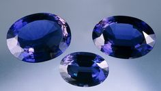 Violet Lolite - site:GIA. My new fave gemstone with violet-blue color. Love it!