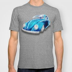 VW Beetle Blue T-shirt - $22.00 Available in a wide variety of colors for men or women  #tanks #tees #tshirt #clothing #VW #Volkswagen #car #beetle #blue