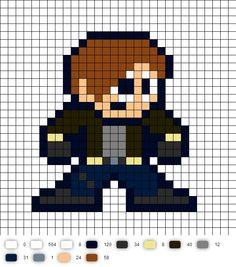 Resident Evil Leon Kennedy Perler Bead Pattern