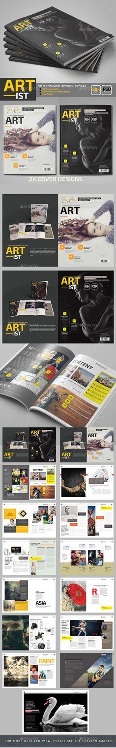 Art-ist Magazine Template - Magazines Print Templates Download here : https://graphicriver.net/item/artist-magazine-template/19572265?s_rank=3&ref=Al-fatih