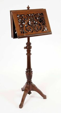 Victorian Mahogany antique Double Music Stand