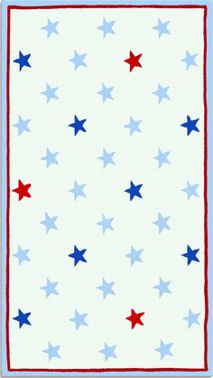 modernrugs.com American Stars and Stripes Modern Kids Rug
