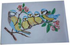 Farbstift Zeichnungen auf Pergamentpapier 2015