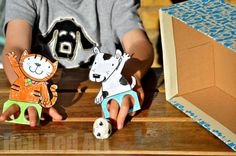 "Kick up craft time and imaginary play with these interactive animal finger puppets! Your kids will be chanting ""goal"" in no time! (via Red Ted Art)"