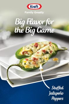 This recipe for Stuffed Jalapeño Peppers is easy, delicious, and has just the right amount of kick for kick-off. A tasty appetizer for your big game party. The Effective Pictures We O Finger Food Appetizers, Yummy Appetizers, Appetizer Recipes, Dinner Recipes, Mexican Food Recipes, Keto Recipes, Cooking Recipes, Game Recipes, Healthy Recipes