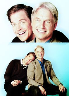Michael Weatherly and Mark Harmon