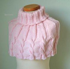 DHARMA Knitting capelet pattern pdf por BernioliesDesigns en Etsy
