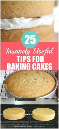 25 insanely useful tips for baking cakes. With these tips, you can bake cakes that come out great every time. 25 insanely useful tips for baking cakes. With these tips, you can bake cakes that come out great every time. Cakes To Make, How To Make Cake, How To Freeze Cakes, Food Cakes, Baking Cakes, Cupcake Cakes, Bread Baking, Muffin Cupcake, Rose Cupcake