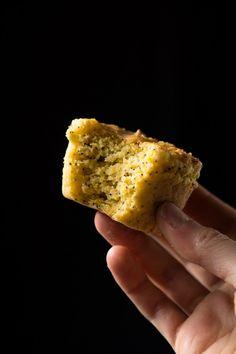 Gluten Free, Paleo & Keto Lemon Poppy Seed Muffins 3g net carbs a pop! #ketomuffins #lemonpoppyseedmuffins