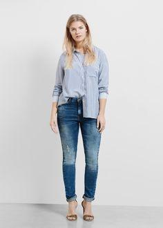 Stripe-patterned shirt - Shirts Violeta   VIOLETA BY MANGO