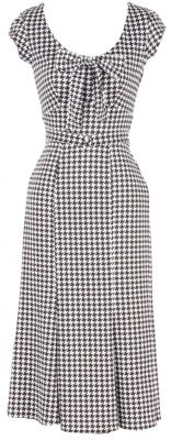 $154 Stop Staring houndstooth wiggle-ish 1930s dress GRAND-02 GRHDS