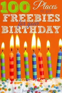 100 Places to Get Freebies for Your Birthday Birthday Rewards, Birthday Freebies, 60th Birthday, Birthday Parties, Happy Birthday, Birthday Stuff, Birthday Ideas, Free On Your Birthday, Today Is Your Birthday
